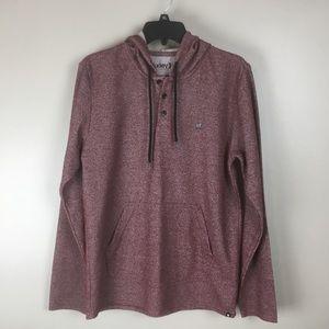Hurley Men's maroon hoodie sweatshirt (M)